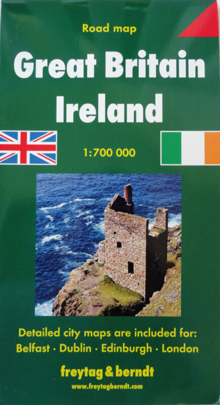 NEW 2006~MAP of GREAT BRITAIN & IRELAND, Freytag~w/46-pg.Index +Detail Maps