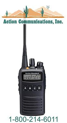 New Vertex Standard Vx 454  Uhf 400 470 Mhz  5 Watt  512 Channel Two Way Radio
