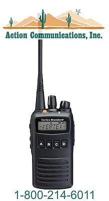 New Vertexstandard Vx-454 Uhf 400-470 Mhz 5 Watt 512 Channel Two Way Radio