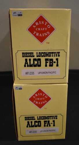 ARISTOCRAFT ALCO FA-1/FB-1 UNION PACIFIC POWERED LOCOMOTIVE SET #1509A & #1608B