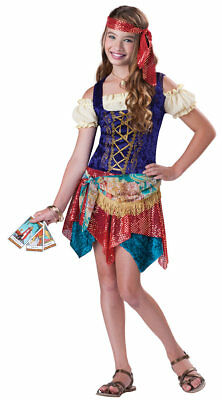 GYPSY'S SPELL GIRL CHILD COSTUME Magical Magic Theme Dress Size 12-14 - Gypsy Girl Costume
