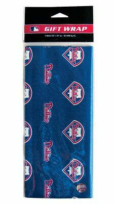 Philadelphia Phillies Gift Wrap MLB Wrapping Paper 12.5 Square Feet