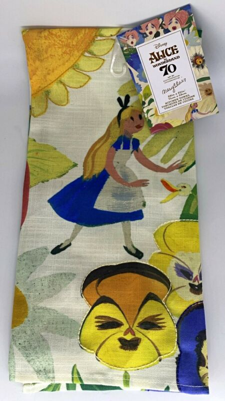 "Disney Parks Alice in Wonderland 70th Mary Blair Kitchen Towel 28"" x 21"""
