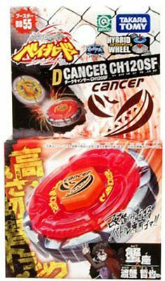Takara Tomy BeyBlade Metal Fight BB-55 Booster Dark Cancer CH120SF ()