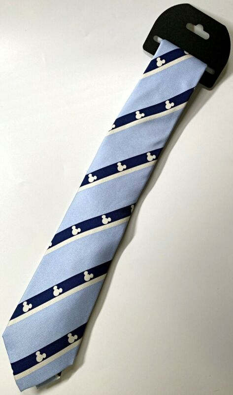 Disney Parks Mickey Mouse Icon Blue Light Blue Silk Tie Dress Adult WDW - NEW