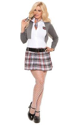 Купить Elegant Moments - School Girl Costume Uniform Mini Dress Jacket Tie Plaid Queen of Detention 9153