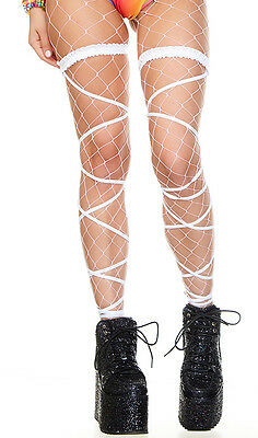 Thigh High Leg Wraps Straps Attached Garter Solid Metallic Rave Festival 997930