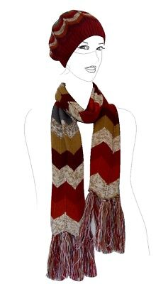 - JJcollection Color Knit Scarf and Hat, 66