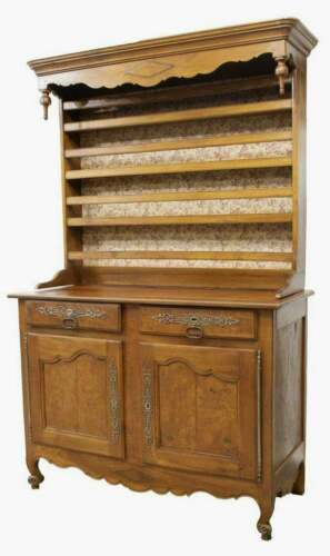 Antique Display Cupboard, Vaisselier Louis XV Style Fruitwood, 1800s, Handsome!