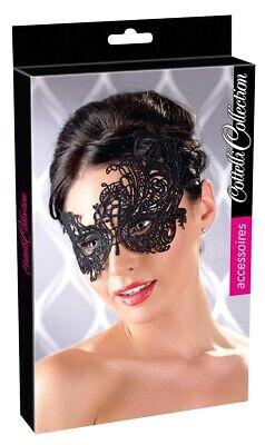 Augenmaske Augenschmuck Karneval Fasching Venezianisch Gesicht Stickerei schwarz