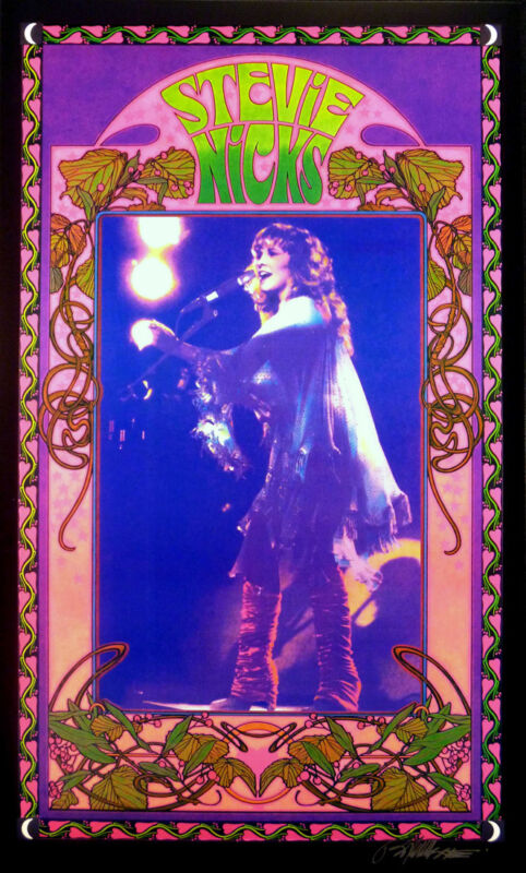 Stevie Nicks Poster Fan Club #1 Beautiful Lithograph Hand Signed by Bob Masse