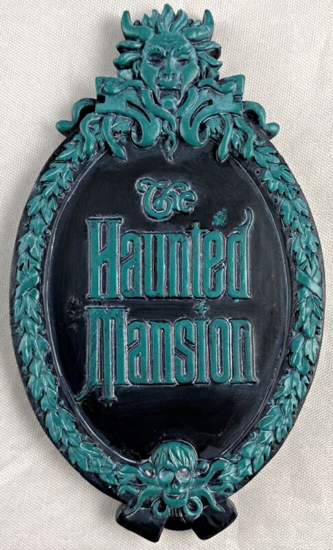 Disney Parks Haunted Mansion Attraction Gate Plaque Sign Logo Magnet - NEW