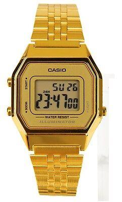 Casio LA680WGA-9D Ladies Mid-Size Gold Tone Digital Retro Vintage Watch NEW