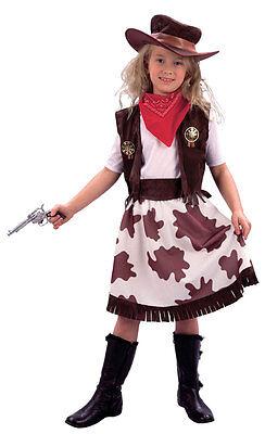 Kinderkostüm NEU - Mädchen Karneval Fasching Verkleidung Kos (Mädchen Cowgirl Weste)