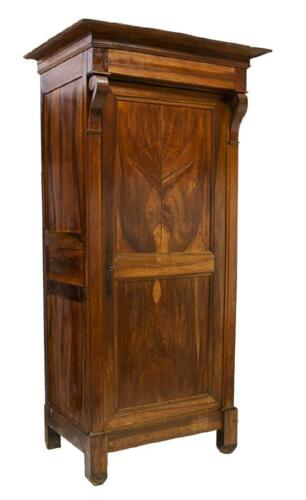 Tall Handsome French Louis Philippe Mahogany Bonnetiere/Armoire, 19th Century