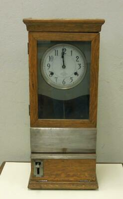 International Time Recording Co. Early 20th Century. Oak Cased Time Card clock. for sale  Concord