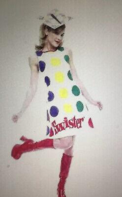 ADULT LADIES TWISTER GAME RETRO HALLOWEEN COSTUME-2 PC SET- Medium 8-10-NEW - Twister Game Halloween Costume