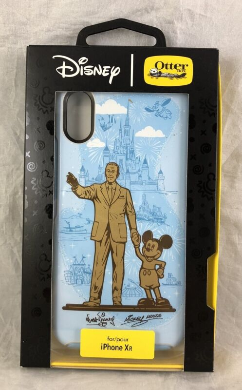 Disney Parks Otter Box iPhone XR Partners WDW Walt Mickey Mouse Phone Case - NEW