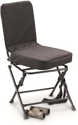 Swivel Hunting Blind Chair Gear Portable Comfort Cushion Padded Backrest Outdoor