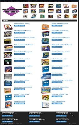 Digital Downloads Shop Website For Sale 135 Products With 100 Resell Rights
