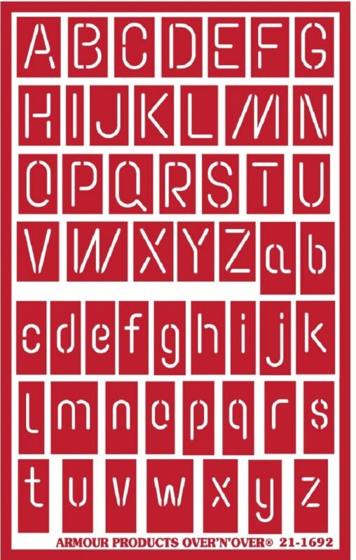 Armour Over n Over Reusable Glass Etching Stencil ~  ONO Neon Alphabet