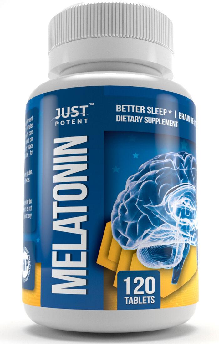 Melatonin 10mg Supplement by Just Potent | Sleep Aid | Pharmaceutical Grade