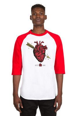 "Hustle Gang White/Red ""No Coolaid"" Raglan T-Shirt"