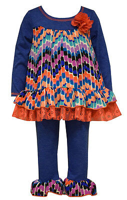 New Girls Bonnie Jean sz 4-6x Blue Coral Lace GEO Leggings outfit School Clothes](New School Clothes)