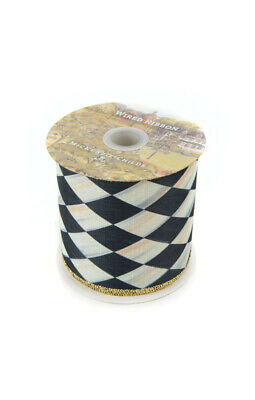 10 YARDS BLACK /& OFF WHITE CHECK LIP CORD TRIM PIPING ~ MACKENZIE CHILDS ACCENT!