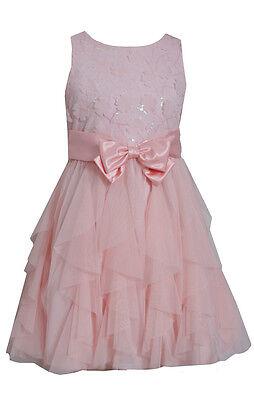 Little Girls Holiday Dresses (Bonnie Jean Little Girls Spring Easter Holiday 3-D Flowers Dress, Pink, 4 5 6)