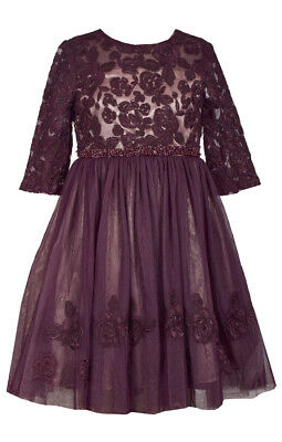 Bonnie Jean Big Girls 7-16  Beaded Waist Lace  Tulle   Holiday Party Dress. ](Party Dresses Girls 7 16)