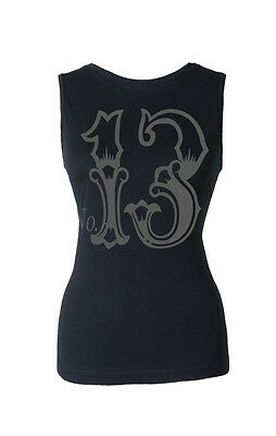 Lucky 13  Trouble  Open Back Muscle Tank 13 Rockabilly Pinup Kustom Kulture