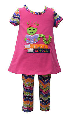 Clothes Back To School (Bonnie Jean Girls Back To School Bookworm  Dress & Leggings Outfit 4 5 6 6X)