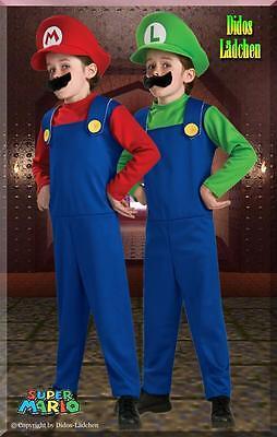 Halloween Super Mario  Original Lizenz  Kostüm Luigi oder Mario  gr   S.M.L - Mario Halloween Kostüm