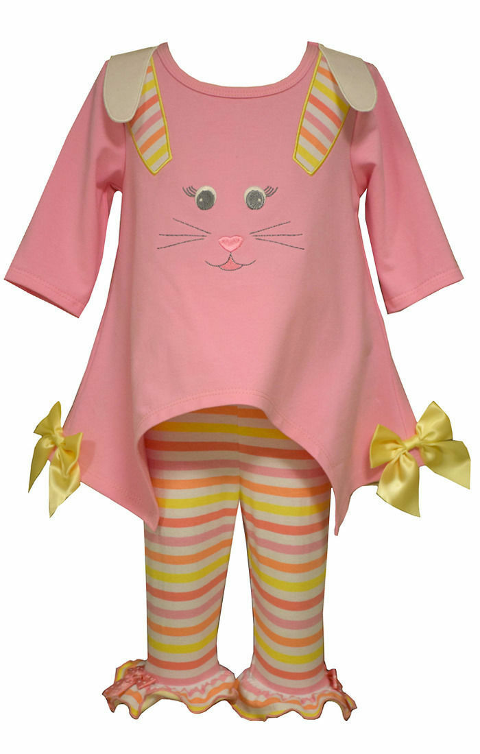 Bonnie Jean Girls Pink Easter Bunny Pageant Dress Outfit ...