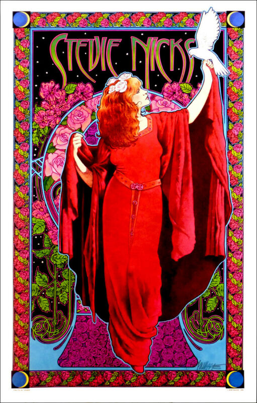 Stevie Nicks Poster White Winged Dove Bob Masse Classic Hand-Signed Silver Ink