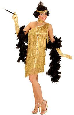 Charleston Flapper Lieselotte Damenkostüm gold NEU - Damen Karneval Fasching Ver