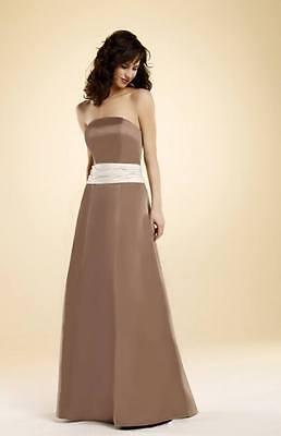 NWT Eden Bridal 7219 Wedding Prom Gown Dress Sz 12 Color: Mocha / Cream