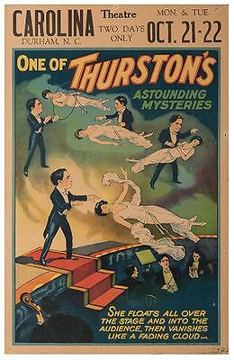 Howard Thurston ORIGINAL Vintage Magic Performance Poster 1935