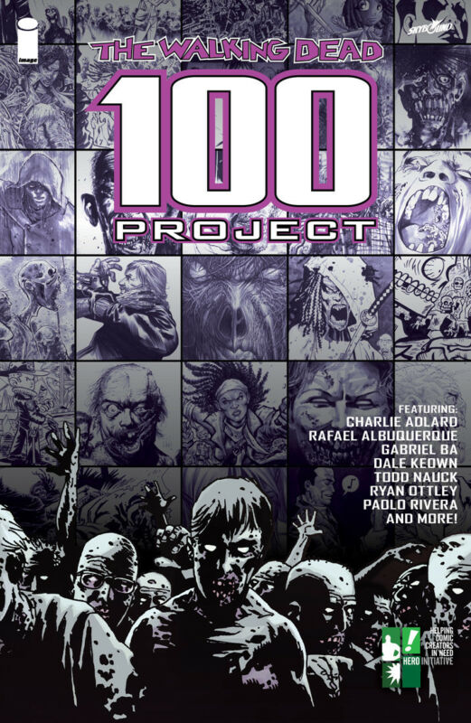 THE WALKING DEAD 100 PROJECT HARDCOVER