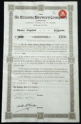 1891 The St. Etienne Brewery Company / Brasserie Nationale de St. Etienne
