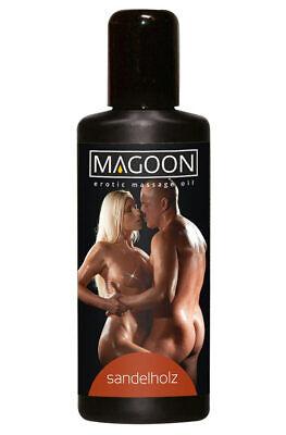 Magoon Sandelholz Massage-Öl 100ml erotischer Duft Jojoba-Öl wasserlöslich