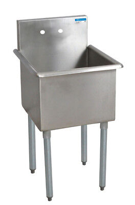 Bk Resources 21x21 Single Compartment Stainless Steel Budget Sink