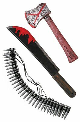 Zombie Hunting Kit 3 Piece Kids Toys Fun Costume Accessories Machete Halloween