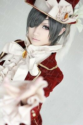 Black Butler Ciel Elegent Dark Red cosplay kostüm