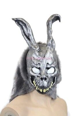 Donnie Darko FRANK the Bunny MASK Latex Overhead with Fur Adult - Donnie Darko Frank The Bunny Costume