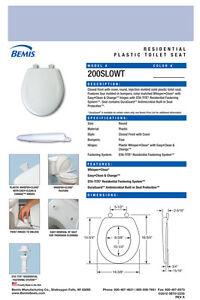 Bemis-200SLOWT-324-Round-Plastic-Slow-Close-Toilet-Seat-OXFORD-BLUE