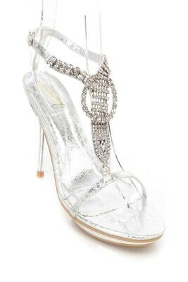 Wedding Evening Shoes - Popular new silver wedding shoes high heel shoes diamond sandals party evening s