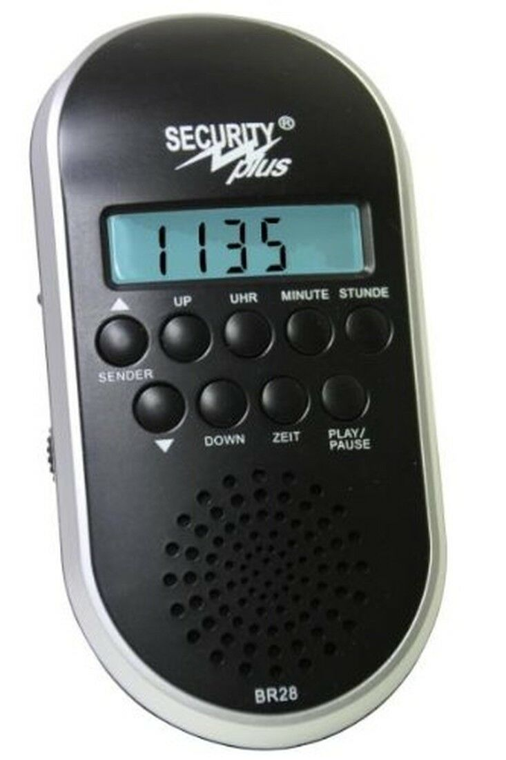 Security Plus UKW Fahrradradio BR 28 Akku mp3 Player SD-Karte USB Stick