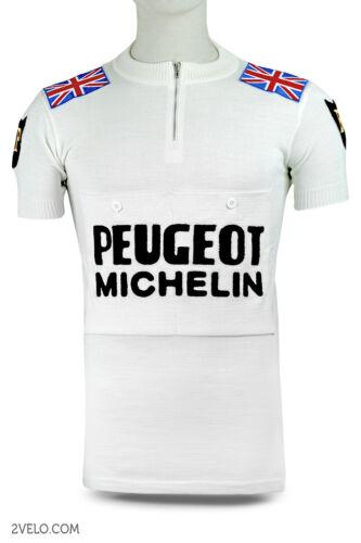 PEUGEOT BP UK Tom Simpson vintage wool jersey, new, Union Jack M size